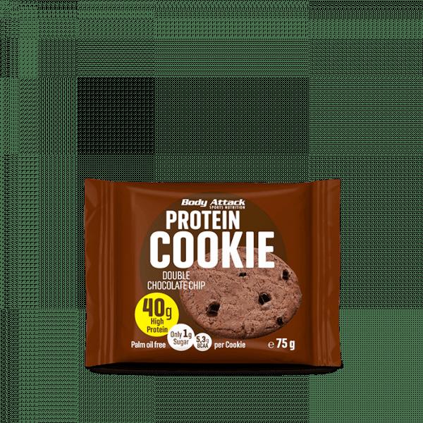 Body Attack Protein Cookie 12 x 75g Bars und Snacks