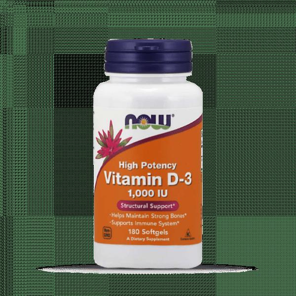 NOW FOODS - Vitamin D3 1000iu 180 Standard Vitamine und Mineralien