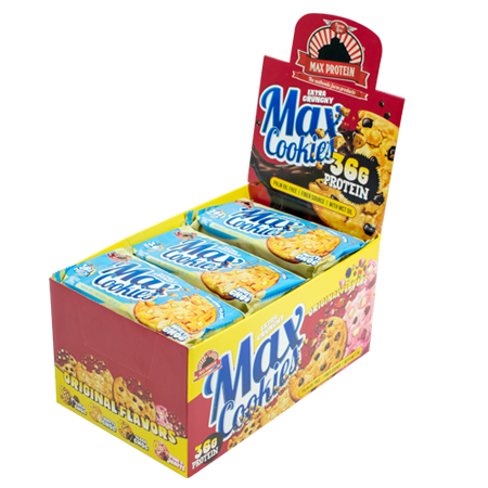 MAX PROTEIN MAX COOKIES, 12 x 100g Bars und Snacks