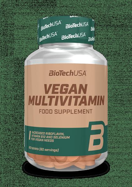 BIOTECHUSA Vegan Multivitamintabletten – 60 Tabletten
