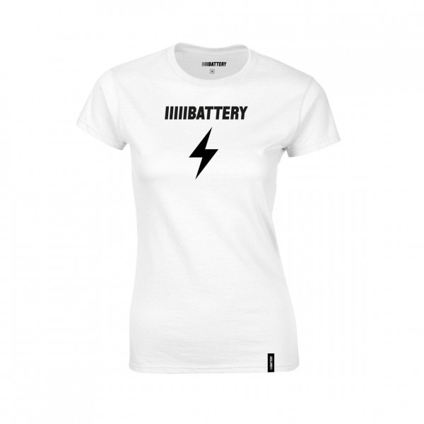 Battery Shirt Damen weiß Sportbekleidung