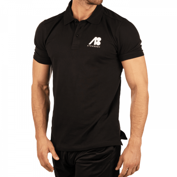 ATOMBODY Polo Shirt Basic, men, XL, black Sportbekleidung