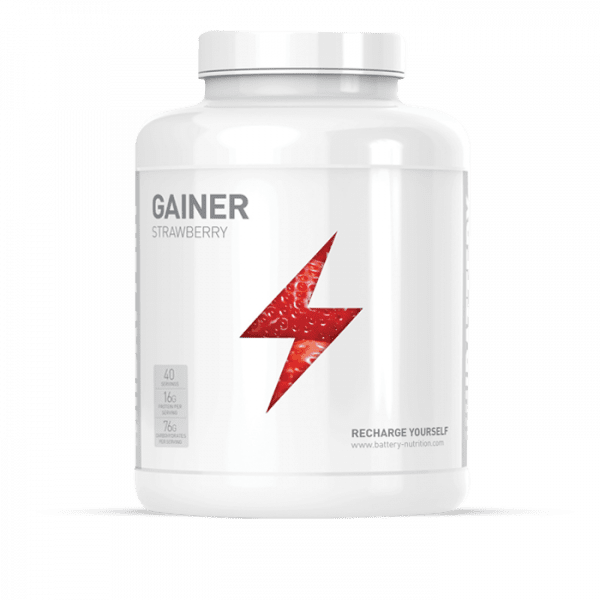 BATTERY GAINER 4000g Gainers/Kohlenhydrate - Strawberry - MHD 31.10.2020