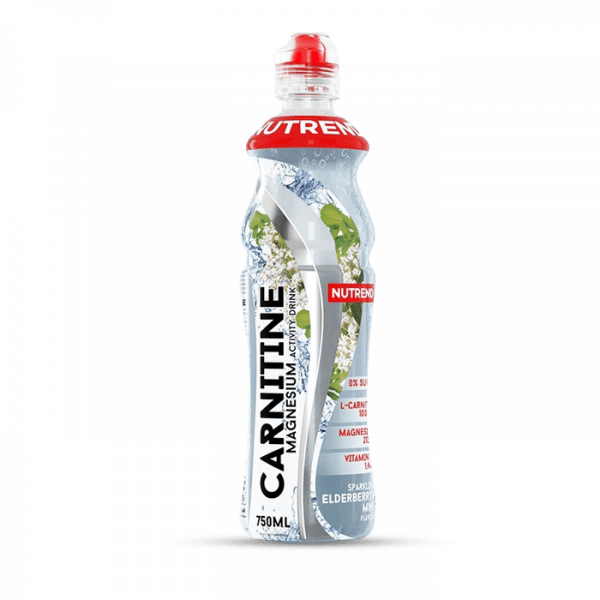 NUTREND CARNITINE MAGNESIUM ACTIVITY DRINK, 8 x 750ml, elderberry + mint Drinks
