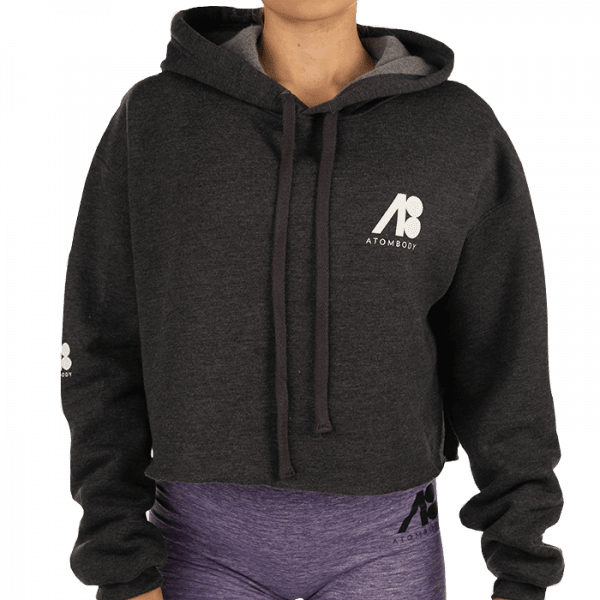 ATOMBODY Hoodie Fleece kurz woman dark grey Sportbekleidung