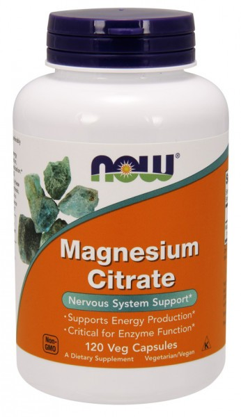 Now Foods - Magnesium Citrate 400mg, 120 veg Kapseln