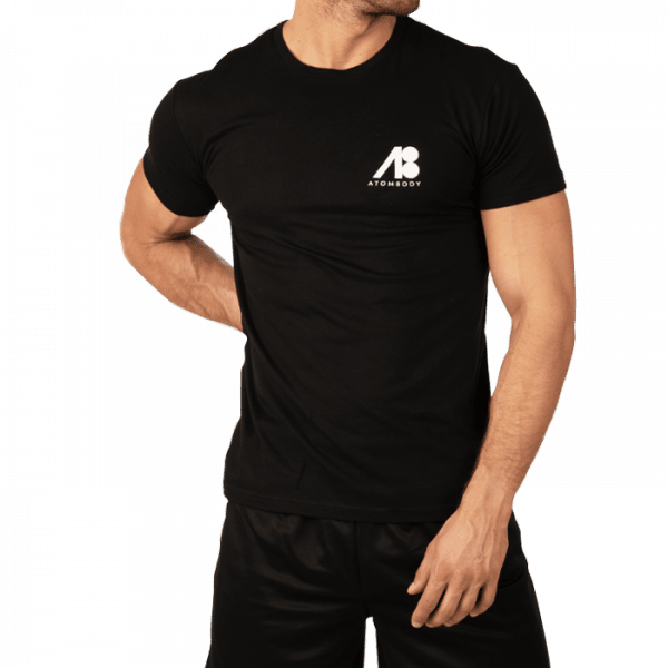 ATOMBODY T-Shirt Basic men black Sportbekleidung