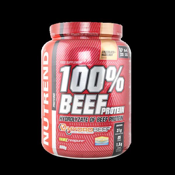 NUTREND 100% BEEF PROTEIN, 900g, chocolate+hazelnut Proteine