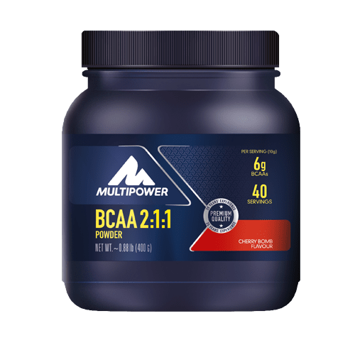 MULTIPOWER BCAA 2:1:1 400g - Cherry Bomb - MHD 30.04.2021