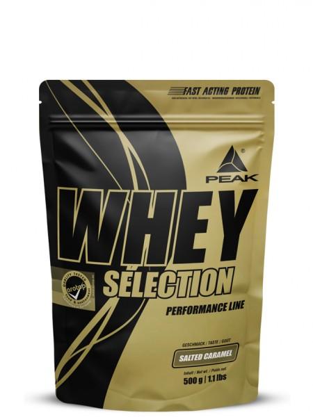 PEAK Whey Selection 500g Proteine Salted Caramel - MHD 31.07.2021