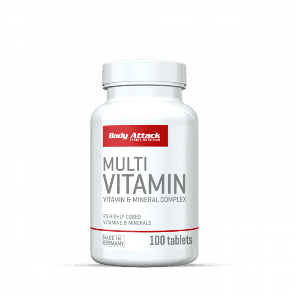 Body Attack Multi Vitamin, 100 Tabletten Vitamine und Mineralien