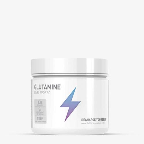 BATTERY GLUTAMINE 500g Unflavored Aminos