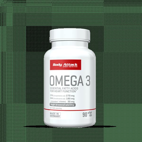 Body Attack Omega 3, 90 Kapseln Health Produkte