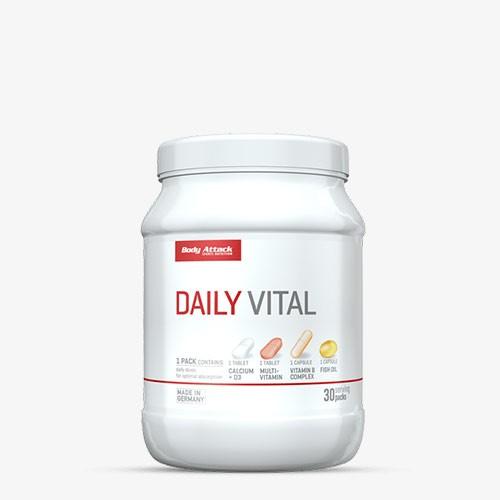 BODY ATTACK Daily Vital 30 Portionen 30 Päckchen Vitamine und Mineralien