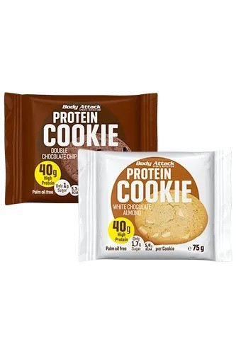 Body Attack Protein Cookie 12 x 75g Bars und Snacks