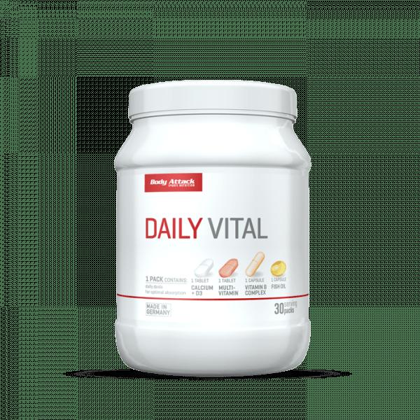 Body Attack Daily Vital 30 Portionen, 30 Päckchen Vitamine und Mineralien
