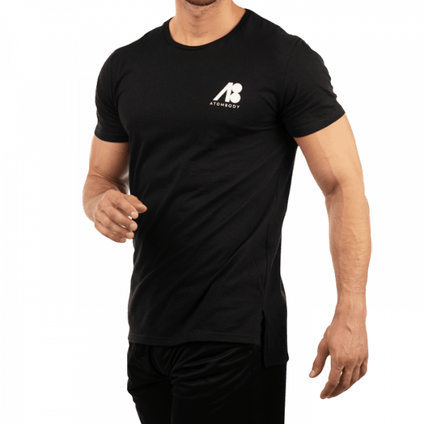 ATOMBODY T-shirt ultra long, men, black Sportbekleidung