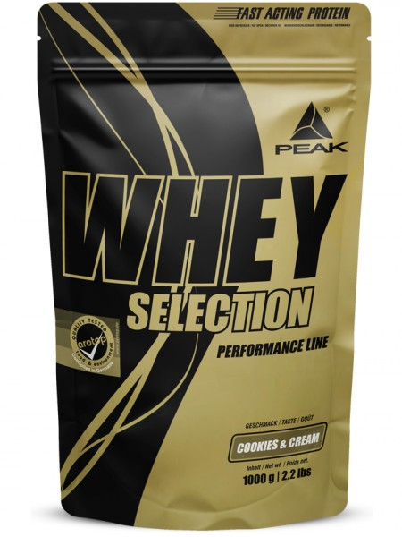PEAK Whey Selection 1000g Proteine