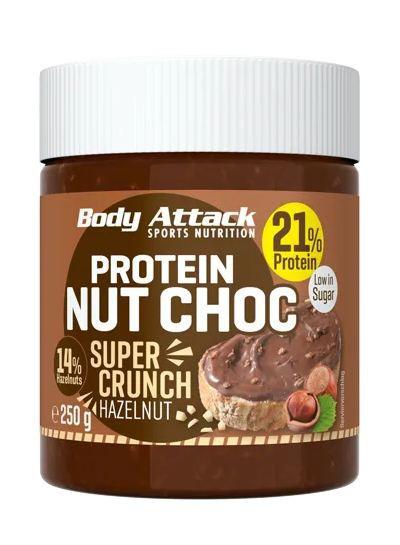 Body Attack Protein Nut Choc, 250g Food