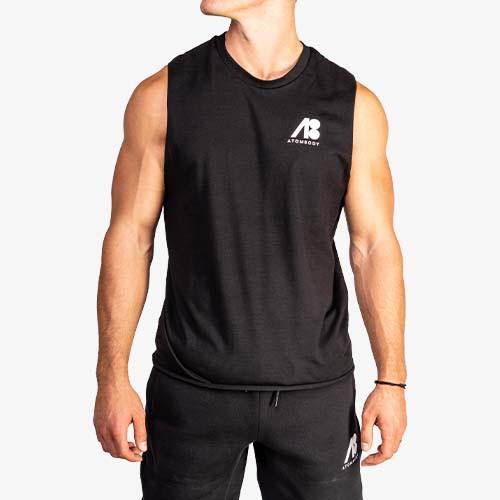 ATOMBODY Sleeveless Shirt black