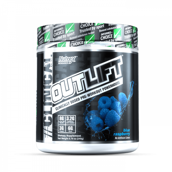 NUTREX RESEARCH - OUTLIFT (10 SERV) BLUE RASPBERRY