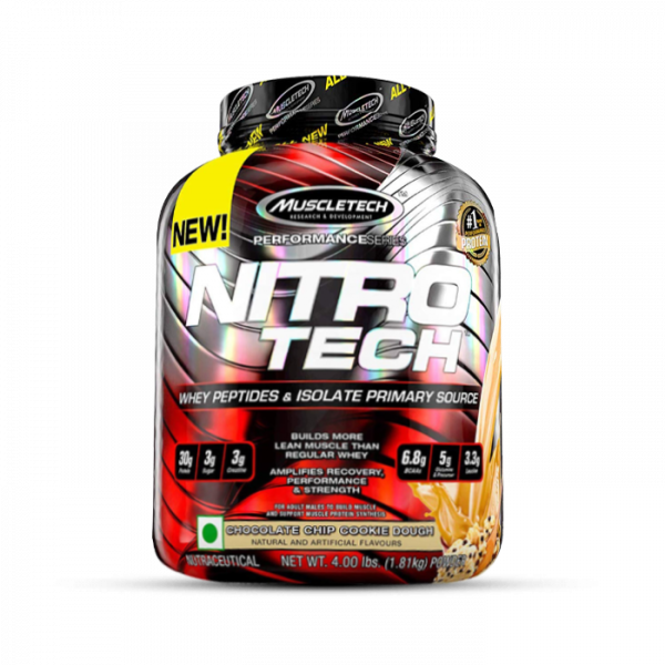 MUSCLETECH - Performance Series Nitro-Tech, 1800g - Chocolate Chip Cookie Dough Proteine