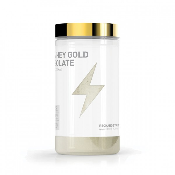 BATTERY WHEY GOLD ISOLATE NATURAL, 600g Proteine