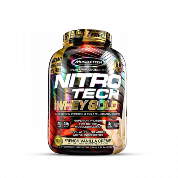Muscletech - Performance Series Nitro Tech 100% Whey Gold, 2508g - French Vanilla Creme Proteine