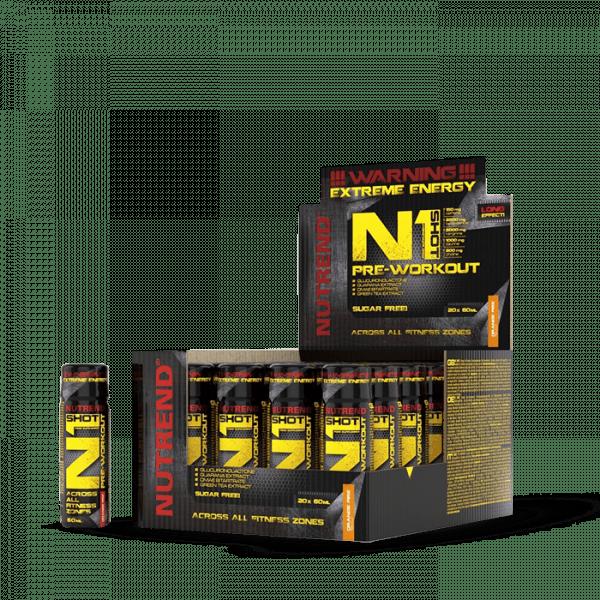 NUTREND N1 SHOT, 20 x 60ml, orange fire Trainings Booster