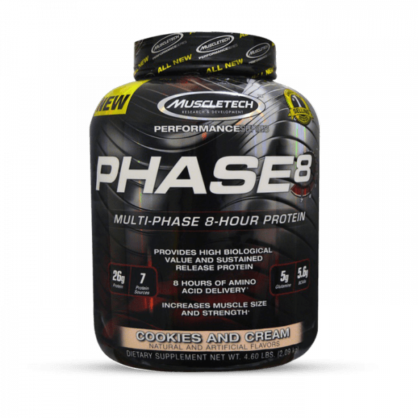 Muscletech - Performance Series Phase 8, 997g - Cookies and Cream Proteine
