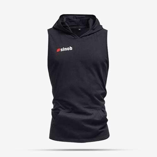SINOB Hooded & Armless Shirt (small print) Sportbekleidung