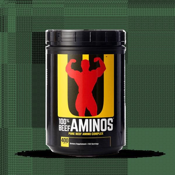 Universal Nutrition Beef Amino, 400 Tabletten Aminos