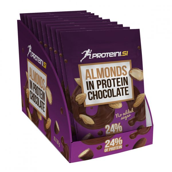 PROTEINI.SI Almonds in Protein Chocolate 10 x 80g