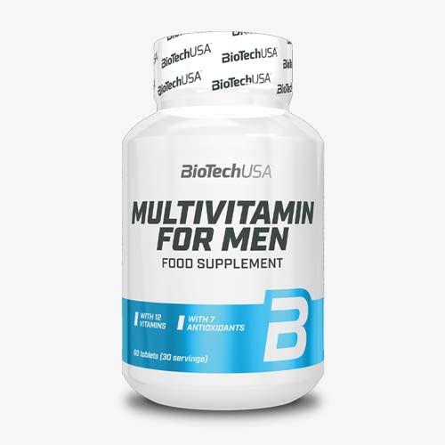 BIOTECHUSA Multivitamin for Men 60 Tabletten Vitamine und Mineralien