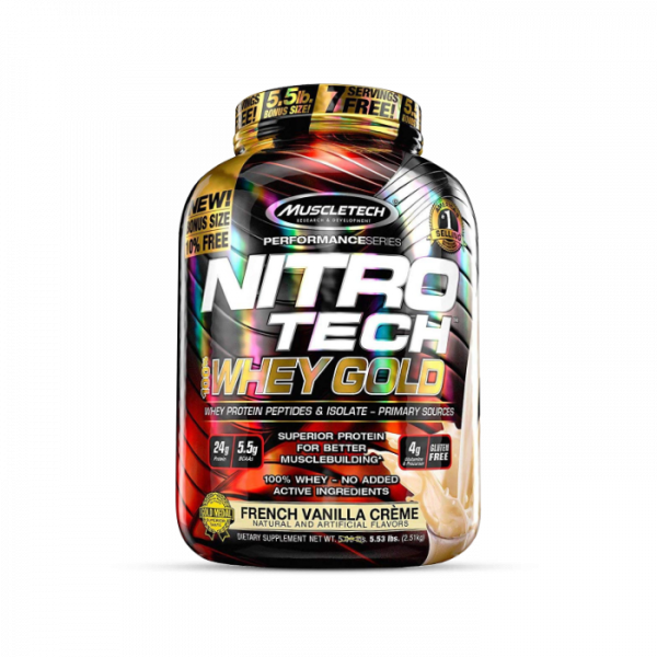 Muscletech - Performance Series Nitro Tech 100% Whey Gold, 2508g -French Vanilla Creme Proteine