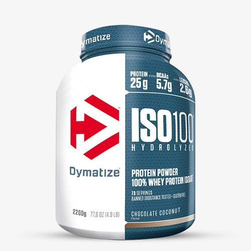 DYMATIZE ISO 100 2200g Proteine - Chocolate Coconut - MHD 31.03.2021