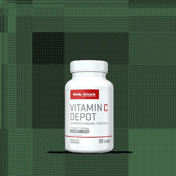 Body Attack Vitamin-C Depot 90 Kapseln Vitamine und Mineralien
