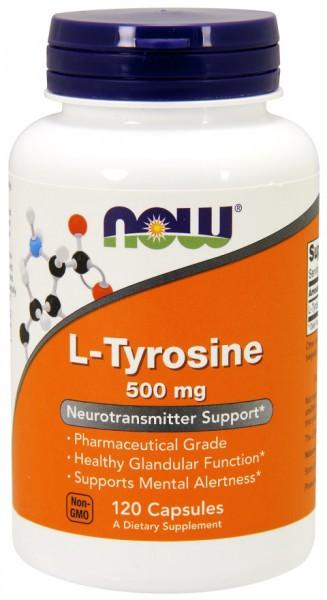 NOW FOODS - L-Tyrosine 500 mg 120 Kapseln