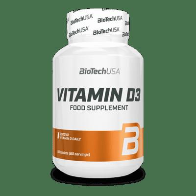 BIOTECHUSA Vitamin D3 60 Tabletten Vitamine und Mineralien