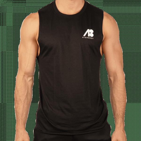 ATOMBODY T-Shirt Ärmellos Freelift, men, L, black Sportbekleidung
