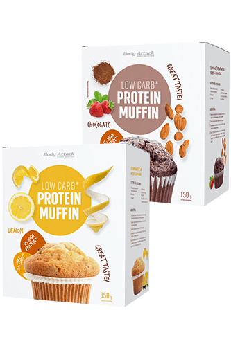 Body Attack Low-Carb Protein-Muffins, 150g Food