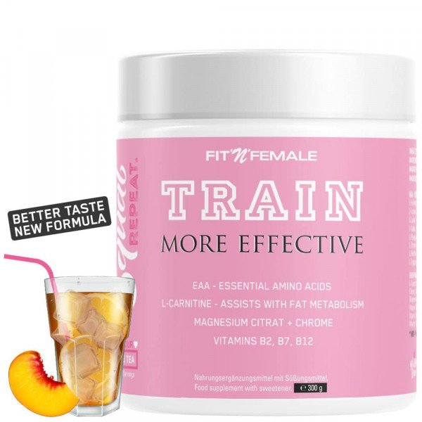 FITNFEMALE TRAIN - More Effective 300g - Peach Ice Tea