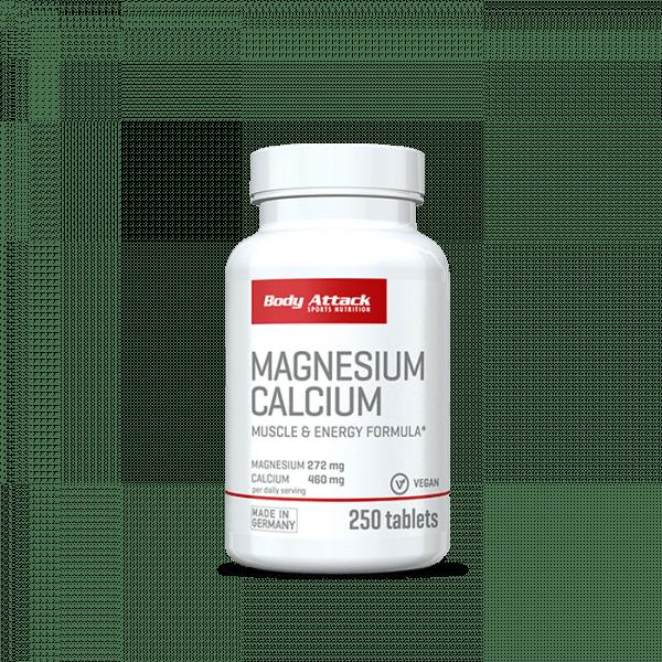 Body Attack Magnesium Calcium, 250 Tabletten Vitamine und Mineralien