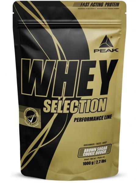 PEAK Whey Selection 1000g Proteine - Brown Sugar Cookie Dough - MHD 30.04.2021