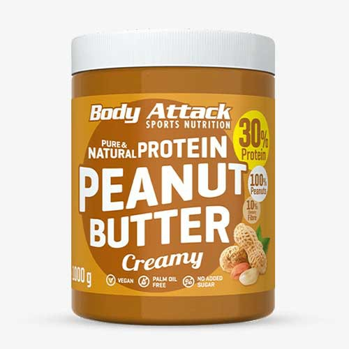 BODY ATTACK Peanut Butter creamy, 1000g Food