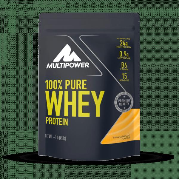 MULTIPOWER 100% Pure Whey 450g Proteine - Banana Mango - MHD 31.03.2021