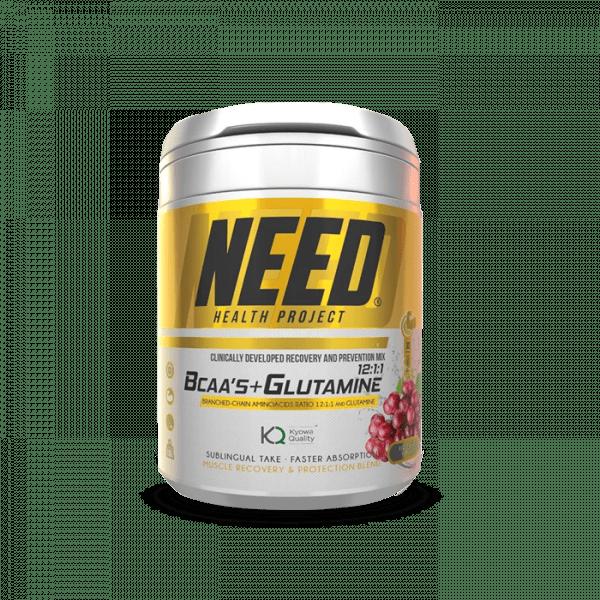 NEED BCAA´S & GLUTAMINE 300g Aminos - Red Grape - MHD 30.06.2021