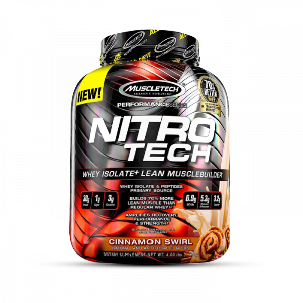Muscletech - Performance Series Nitro-Tech, 1800g - Cinnamon Swirl Proteine