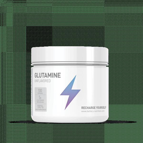 BATTERY GLUTAMINE 500g, Unflavored Aminos