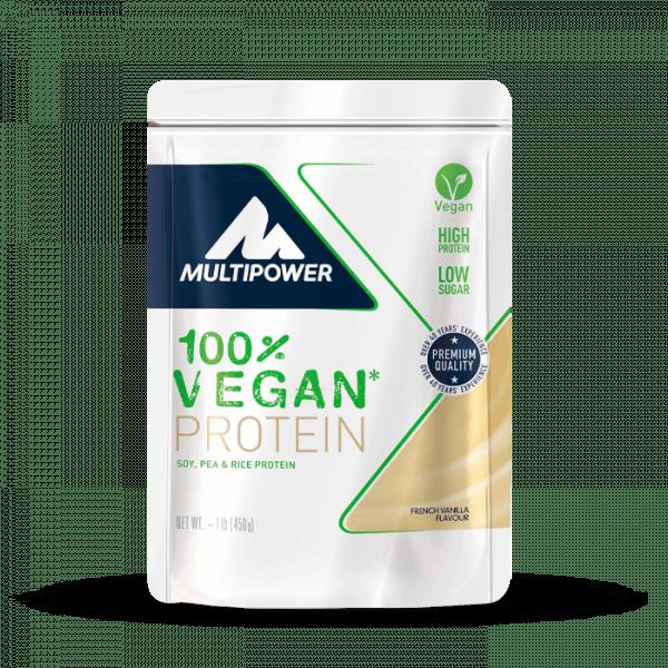 MULTIPOWER 100% Vegan Protein 450g - French Vanilla - MHD 30.04.2021